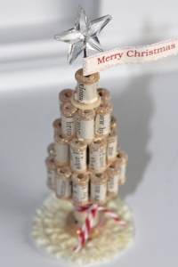 A Christmas tree made from empty thread spools. I found this on Pinterest, the author is mayaroad.typepad.com