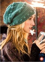 Crochet hat - love the colour