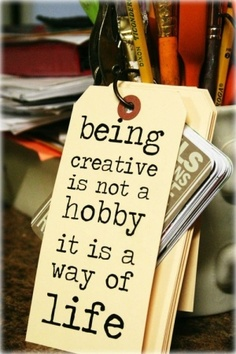 being creative is...