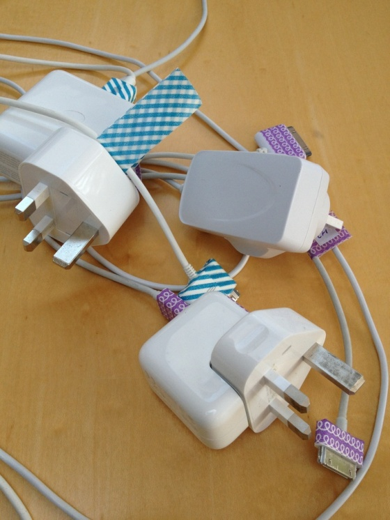 washi tape cables